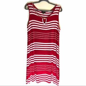 Espresso Red stripped maxi dress